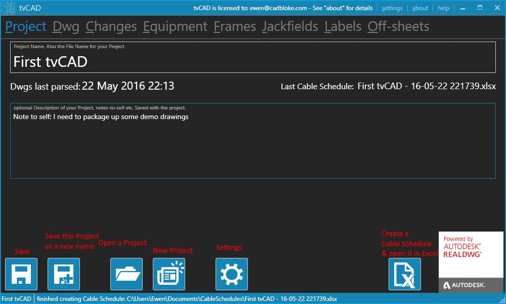 tvCADdesktopScreenGrab-160522-07-ProjectPage